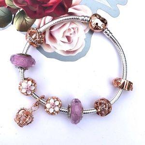 Pandora bracelet ' Rose gold royalty'